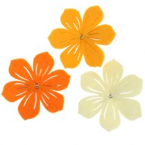 Felt flower on the clip 7cm 24pcs