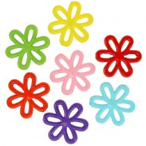 Flowers Ø3cm with hole assorted 135g