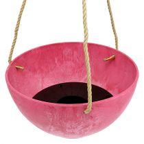 """Hanging basket """"Fiona"""" Ø25cm H12cm Pink"""