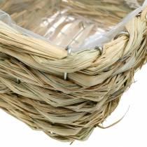 Flower basket, decorative basket made of hay, planter, decorative basket square set of 3