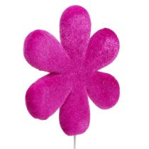 Flower plug flower flocked Ø8,5cm 8pcs