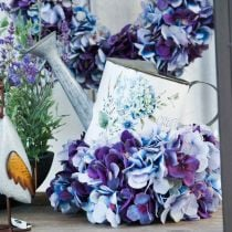 Flower pot watering can hydrangea garden decoration planter metal 15cm