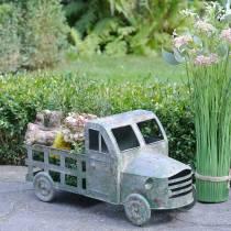 Flowerpot truck zinc gray, green 42 × 17.5 × 19.5cm