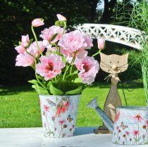 Flower pot metal sun hats spring decoration planter Ø11.5cm H10.5cm