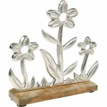 Spring decoration flower meadow base mango wood stand table decoration