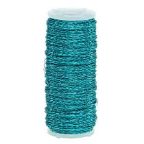 Bouillon effect wire Ø0.30mm 100g / 140m turquoise