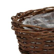 Bread basket oval unpeeled 20cm H8cm