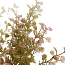 Boxwood branch pink, pink with mica 32cm