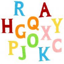 Letters made of felt assorted colors 2,5cm - 3cm 150pcs