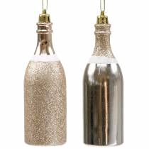Champagne bottle for hanging light gold 10pcs