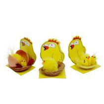 Chenille Chicks in Nest Mix Ø 5,5cm 3pcs