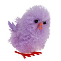 Chenille chick Easter chick purple, pink spring decoration 10pcs