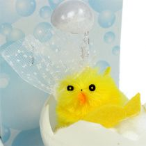 Chenille chicks in the bath 8,5cm yellow