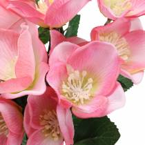 Bouquet Christmas Rose Pink 29cm 4pcs