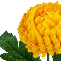 Chrysanthemum yellow artificial Ø7cm L18cm