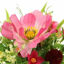 Decorative bouquet Cosmea and snowball in a bunch Artificially sorted pink H18cm