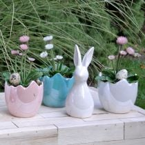 Bunny for decoration white mother of pearl 18,5cm