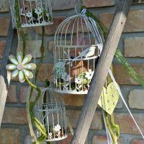 Bird aviary vintage angular gray 21 / 17cm 2pcs