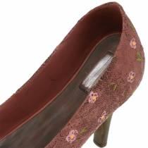 Deco shoe planting shoe pump brown 24cm × 8cm H13.6cm