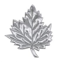 Decorative leaves of silk 5cm silver 60pcs