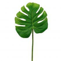 Deco sheet Philo leaf green B11cm L29,5cm 3pcs
