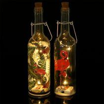 Decorative bottle LED Flamingo 37,5cm warm white 2pcs