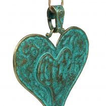 Decorative heart for hanging metal 6pcs