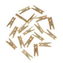 Decorative wooden clips 2.5cm natural 300p
