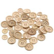 Deco buttons nature 1,5cm - 2,5cm 150pcs