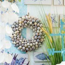 Decorative wreath maritime large Ø40cm Natural sea snails Nathai