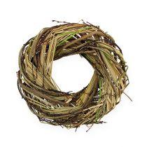 Wicker wreath with grass Ø25cm nature