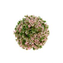 Decorative ball pink-green Ø12cm 1p