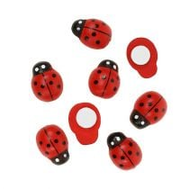 Deco ladybug for sticking 1cm red 360pcs