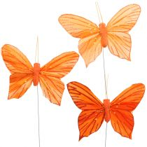 Decorative Butterfly Orange 12pcs