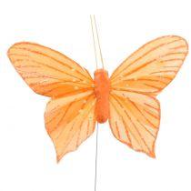 Decorative Butterfly Orange 12pcs