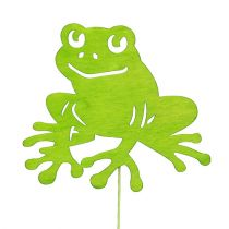 Deco plug frog green 7cm - 10cm 12pc