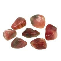 Decorative stones pink-cream glossy 4cm - 6cm 1kg
