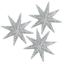 Decorative stars silver Ø5cm 20pcs