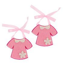 Nursery Felt Dress Pink 7cm 20pcs