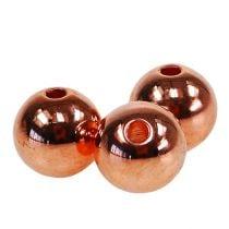 Decorative Beads Copper Metallic 14mm 35pcs