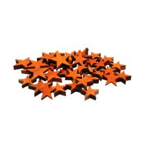 Wooden stars mix Orange for spreading 3-5cm 72pcs