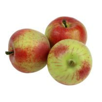 Decorative apple red, green Ø6cm 6pcs