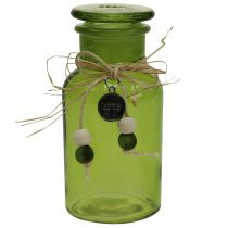 Deco Apothecary Bottle Green Ø6,5cm H13cm