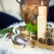 Decorative acorn ceramic golden table decoration Christmas 13.5cm 2pcs