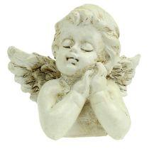 Decorative angel praying cream 9cm 8pcs