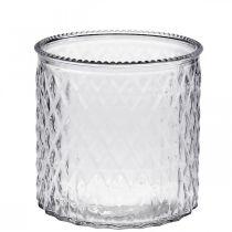 Decorative glass lantern Ø12cm H12,5cm