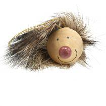 Decoration Hanger Hedgehog with Fur 6,5cm 8pcs