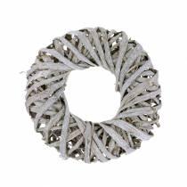 Deco wreath lianewood white washed Ø30cm