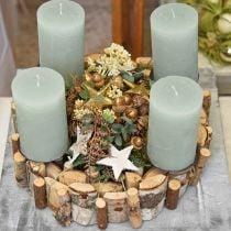 Decorative wreath birch wood wreath table decoration Ø30cm H7cm