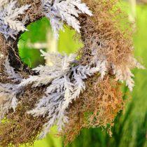Decorative wreath pampas grass artificial cream, brown door wreath Ø60cm